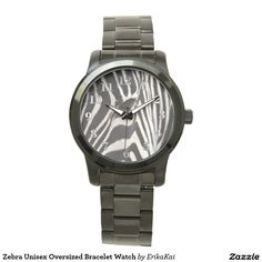 Zebra Unisex Oversized Bracelet Watch. Color: black, gold, silver or two-ton