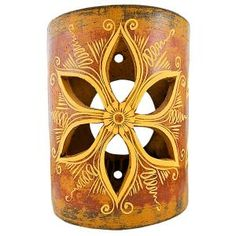 Incorporate dramatic southwestern lighting in your home with these charming rustic wall sconce covers! These stunning ceramic covers will brighten up any wall inside or outside your home. Handmade in Jalisco, Mexico, these beautiful ceramic sconces are carefully crafted using traditional potters guild processes. Each is striking in its detail and design. Accent sconce lighting is perfect for creating a warm and inviting atmosphere with a southwestern feel.