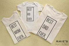 Matching Family Shirts Family set Best Mom Ever Best Dad