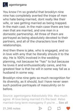 Brooklyn Nine Nine on relationships and marriage