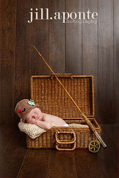 Newborn Photography Fishing Inspiration