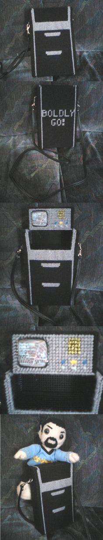 Plastic canvas tricorder purse!!!