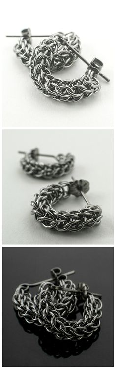 Swag Stainless Steel Chainmaille Earring Kit OR Ready Made by UnkamenSupplies