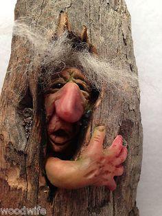 **Peeked Gnome Troll Goblin in Tree Shire Folk 502 OOAK by Thebearguy | eBay