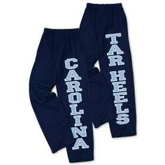 love these Carolina sweatpants because they look so comfy--the open-bottemd legs is crucial!
