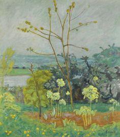Pierre Bonnard (French, 1867-1947), Jardin au bord de la Seine, c.1912. Oil on canvas, 86 x 76.2 cm.