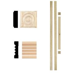 House of Fara 3/4 in. x 3 in. x 7 ft. Hardwood Fluted Door Trim Set Casing-4000 at The Home Depot