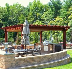 "16'x16' Cedar Artisan Pergola with Retractable Curtains and 8""x8"" Wood Post Upgrade http://www.backyardunlimited.com/pergolas.php"