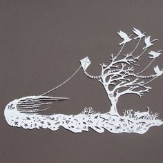I bought this beautiful paper cut by Polly Finch at the Brighton open houses.