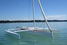 The Trika 540 trimaran can be built from plywood at home
