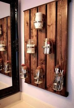 Stained pallet ~ my bf could totally make me this!