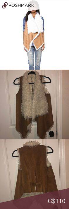 Unreal fur reversible vest Faux fur, shearling reversible vest.  Still on shopbop for $310 Unreal Fur Jackets & Coats Vests Fur Jacket, Vest, Faux Fur, Jackets For Women, Boho, Closet, Things To Sell, Style, Fashion