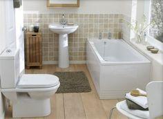 salle de bain déco en beige et blanc