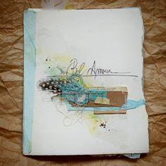 lovely series of pages **Mon scrap par Liliema**: ~~ Art Journal ~~ Diy Journal Books, Journal D'art, Artist Journal, Artist Sketchbook, Art Journal Pages, Art Journals, Journal Ideas, Vintage Journals, Mix Media