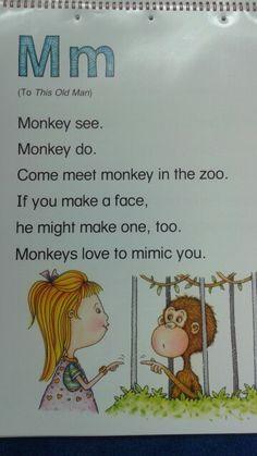 M Alliteration Poem - Maria Prek Literacy, Rhyming Activities, Preschool Learning Activities, Language Activities, Alphabet Poem, Letter Song, Alphabet Crafts, Kindergarten Poems, Transition Songs