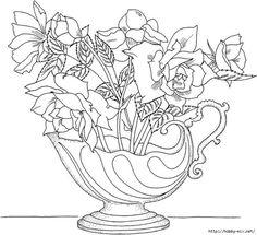 Ramilletes De Flores Pequenas Para Colorear