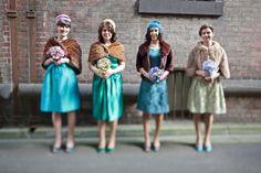 Retro bridesmaids