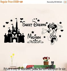 10% OFF Disney Minnie Mouse Sweet Dream with by JRDecal on Etsy