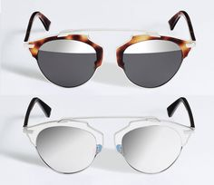 I saw these Dior SoReal sunglasses on my friend Doria Dallos and she looked so chic. 2014 SoReal colors.