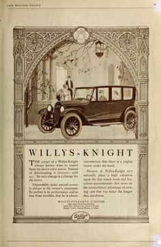 Willys-Knight Automobile 1921
