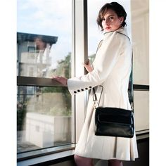 Karla Hanson - Black Crossbody Bag - $99.00/each This Ladies Fashion Crossbody Bag is made from cow leather with a golden finish, approximately 24 x 6.5 x 16.5-65 cm. Presented by www.ecomcreator.com Black Crossbody, Leather Crossbody Bag, Leather Bag, Ladies Fashion, Womens Fashion, Black Cross Body Bag, Cow Leather, Bag Making, Shoulder Bag