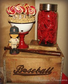#vintage #baseball #candy buffet