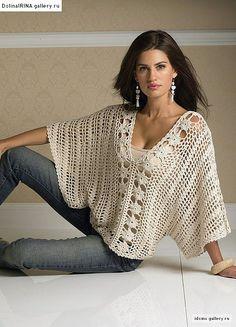 Brasil Tricô e Crochê - Handmade encomendas: Blusa moda verão-manga morcego