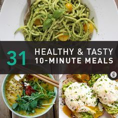 Healthy 10-Minute Recipes #fastrecipes #easyrecipes #quickrecipes