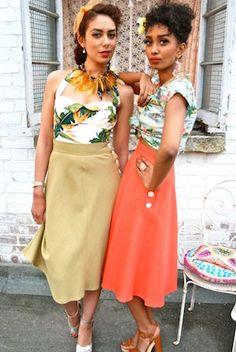 women's havana fashion lookbook Havanna Nights Party, Havanna Party, Look Retro, Look Vintage, Vintage Cuba, Vintage Havana, Vintage Floral, Retro Vintage, Cuba Fashion