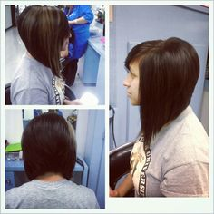 The back is a little too much volume but I like the long swing bob.