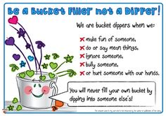 Teacher's Pet - Have You Filled a Bucket Today? Posters - A great positive behavior plan for preschoolers on up! FREE Classroom Display Resource - EYFS, KS1, KS2, bucket, fillers, PSHE, SEAL, relationships, bullying, getting, on, falling