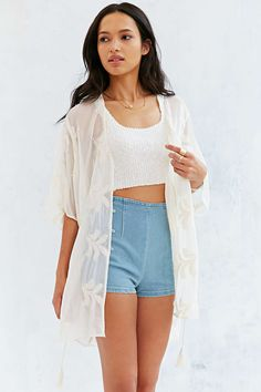 Kimchi Blue Embroidered Waisted Cardigan #UrbanOutfitters