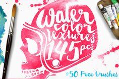 Watercolor Textures + BONUS