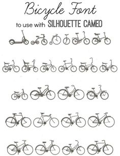 Bicycle Font: