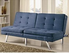 Ideal in your space, the Coaster Brier Convertible Sofa offers comfortable flexibility. Not only does this sofa convert into a full sized bed,. Foam Sofa Bed, Sofa Bed Blue, Futon Bed, Pink Sofa, Best Sleeper Sofa, Sectional Sofa With Recliner, Sleeper Sofas, Sofa Design, Interior Design