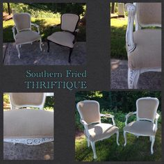 Before and after of customers personal chairs