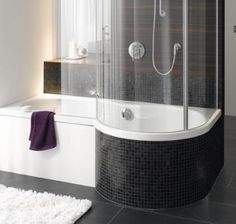 shower and tub combos | ... - Shower Baths - Bette - Cora Ronda - Bath & Shower Combination - UK