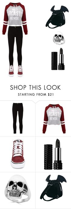 """Late Night Out"" by ydoolman ❤ liked on Polyvore featuring Frame, WithChic, Vans, Kat Von D, Effy Jewelry and Sugarbaby"