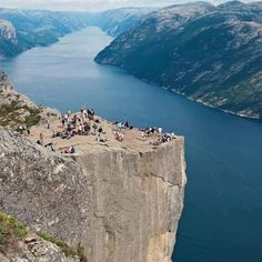 incredible view of Photo of Preikestolen Norway also know as Preacher's Pulpit The Places Youll Go, Great Places, Places To See, Norway Facts, Weird Pictures, Amazing Pictures, Beautiful Places In The World, Beautiful Scenery, Road Trippin