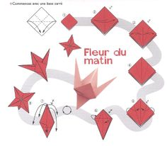 tutoriel origami fleur de lys. Black Bedroom Furniture Sets. Home Design Ideas
