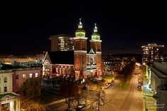 A  view of the Our Lady of Lourdes Cathedral in downtown Spokane