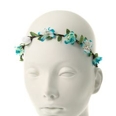 Blue Flower & Leaves Headwrap - 5.99 euros