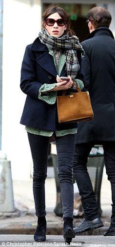 Alexa looks good as she strolls the sidewalk in New York