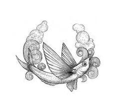 flying fish tattoo - Pesquisa Google