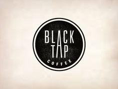 black tap coffee logo by Jerron Ames.