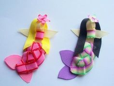 Mermaids Ribbon Sculpture Clips