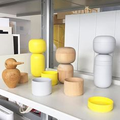 Love these abstract wooden dolls by Japanese designer  spotted in Tokyo today