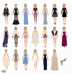 Outfits from the blank space music video!