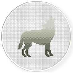 Charts Club Members Only: Wolf Howl Cross Stitch Pattern