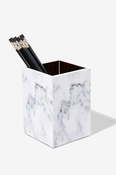 Rachel George Mulholland Marble Pencil Holder - Gifts | Gifts | The Girl Boss | All Gifts